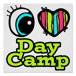 Bright Eye Heart I Love Day Camp Poster