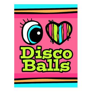 Bright Eye Heart I Love Disco Balls Postcard