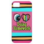 Bright Eye Heart I Love Doing Homework iPhone SE/5/5s Case