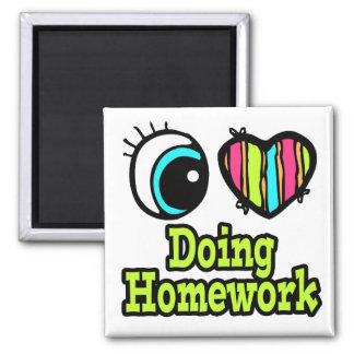 Bright Eye Heart I Love Doing Homework Magnets