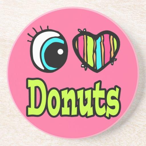 Bright Eye Heart I Love Donuts Coaster
