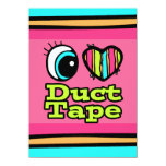 Bright Eye Heart I Love Duct Tape Personalized Announcement