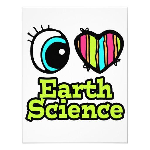 Bright Eye Heart I Love Earth Science Custom Invitations