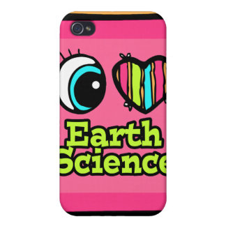 Bright Eye Heart I Love Earth Science Covers For iPhone 4
