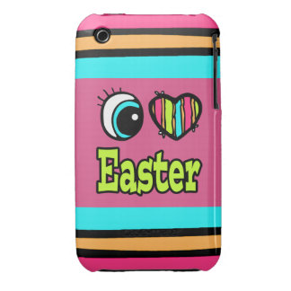 Bright Eye Heart I Love Easter iPhone 3 Cases