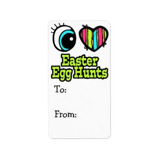 Bright Eye Heart I Love Easter Egg Hunts Label