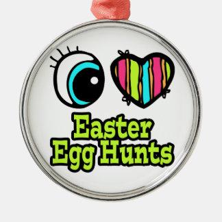 Bright Eye Heart I Love Easter Egg Hunts Ornaments
