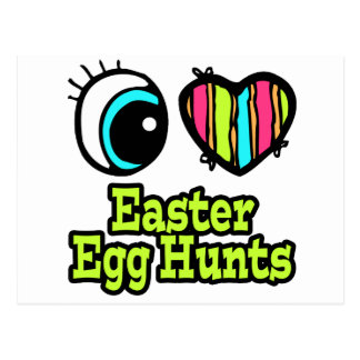 Bright Eye Heart I Love Easter Egg Hunts Postcard