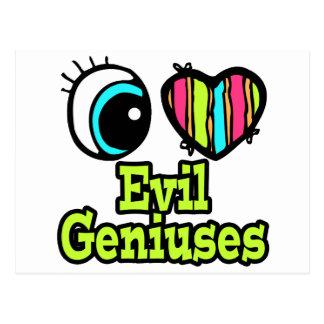 Bright Eye Heart I Love Evil Geniuses Postcard