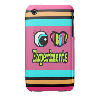 Bright Eye Heart I Love Experiments iPhone 3 Cases