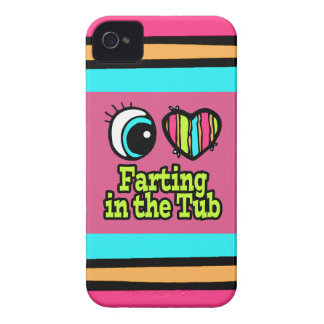 Bright Eye Heart I Love Farting in the Tub Case-Mate iPhone 4 Cases