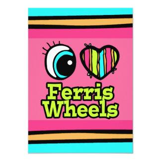 Bright Eye Heart I Love Ferris Wheels Custom Invites