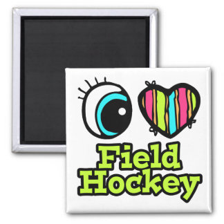 Bright Eye Heart I Love Field Hockey Magnet