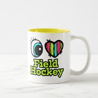 Bright Eye Heart I Love Field Hockey Mug