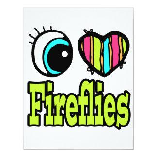 Bright Eye Heart I Love Fireflies Card