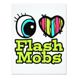 Bright Eye Heart I Love Flash Mobs 4.25x5.5 Paper Invitation Card