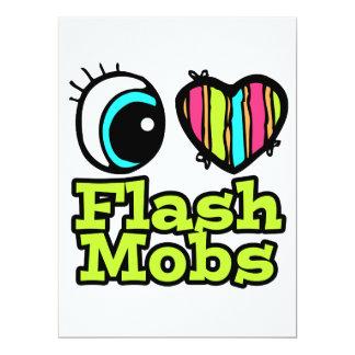 Bright Eye Heart I Love Flash Mobs 6.5x8.75 Paper Invitation Card