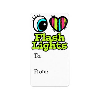 Bright Eye Heart I Love Flashlights Label