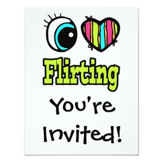 Bright Eye Heart I Love Flirting Card