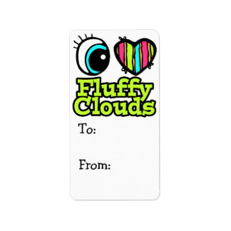 Bright Eye Heart I Love Fluffy Clouds Label