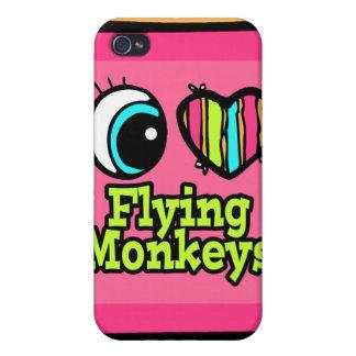 Bright Eye Heart I Love Flying Monkeys iPhone 4 Case