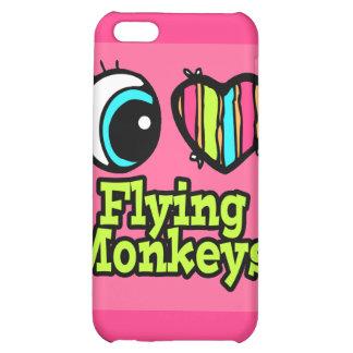 Bright Eye Heart I Love Flying Monkeys Case For iPhone 5C