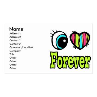 Bright Eye Heart I Love Forever Business Card