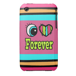 Bright Eye Heart I Love Forever iPhone 3 Covers