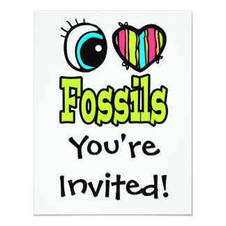 Bright Eye Heart I Love Fossils Card