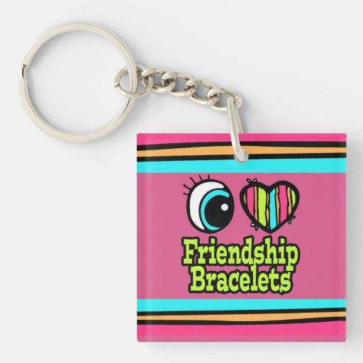 Bright Eye Heart I Love Friendship Bracelets Acrylic Keychains