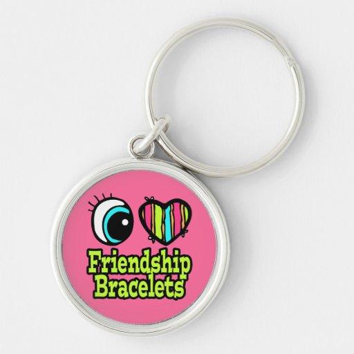 Bright Eye Heart I Love Friendship Bracelets Keychains