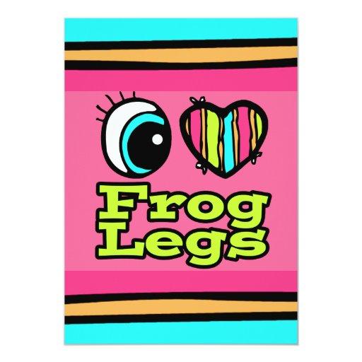 Bright Eye Heart I Love Frog Legs Custom Invite