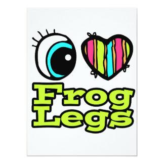 Bright Eye Heart I Love Frog Legs Personalized Invites