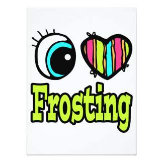 "Bright Eye Heart I Love Frosting 6.5"" X 8.75"" Invitation Card"