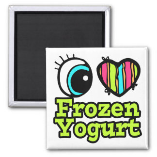 Bright Eye Heart I Love Frozen Yogurt Refrigerator Magnet