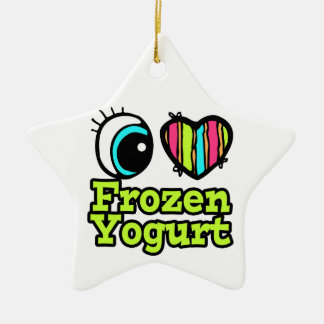 Bright Eye Heart I Love Frozen Yogurt Christmas Ornament