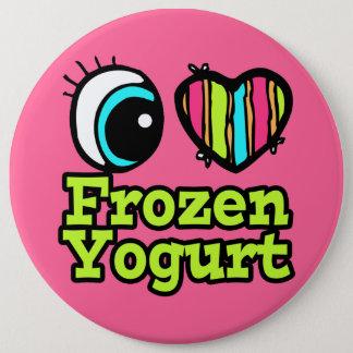Bright Eye Heart I Love Frozen Yogurt Pinback Button