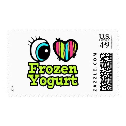Bright Eye Heart I Love Frozen Yogurt Postage