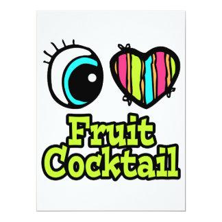 "Bright Eye Heart I Love Fruit Cocktail 6.5"" X 8.75"" Invitation Card"