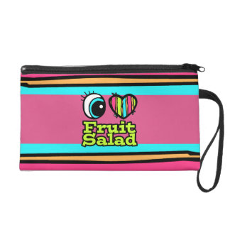 Bright Eye Heart I Love Fruit Salad Wristlet Clutches