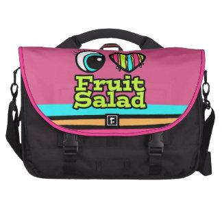 Bright Eye Heart I Love Fruit Salad Laptop Bag