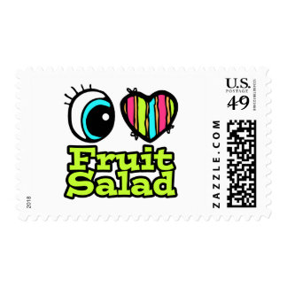Bright Eye Heart I Love Fruit Salad Stamps