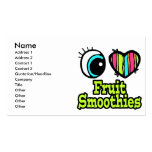 Bright Eye Heart I Love Fruit Smoothies Double-Sided Standard Business Cards (Pack Of 100)
