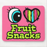 Bright Eye Heart I Love Fruit Snacks Mouse Pad