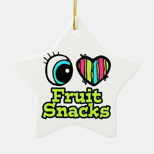 Bright Eye Heart I Love Fruit Snacks Christmas Ornament