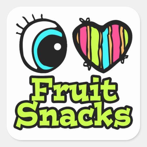 Bright Eye Heart I Love Fruit Snacks Sticker