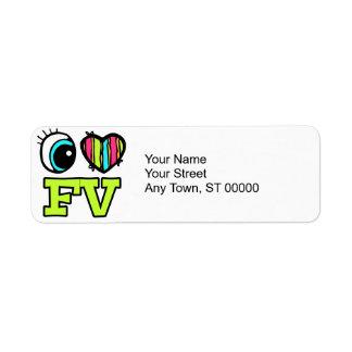 Bright Eye Heart I Love FV Label