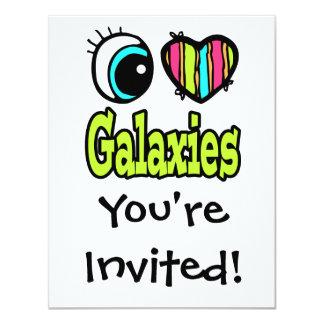 Bright Eye Heart I Love Galaxies Card