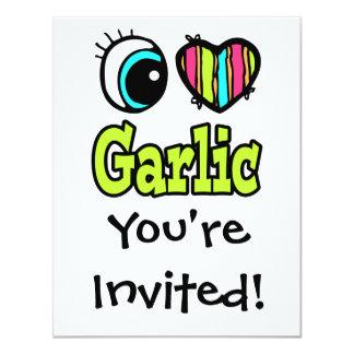 Bright Eye Heart I Love Garlic Card