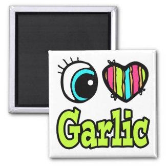 Bright Eye Heart I Love Garlic Magnet